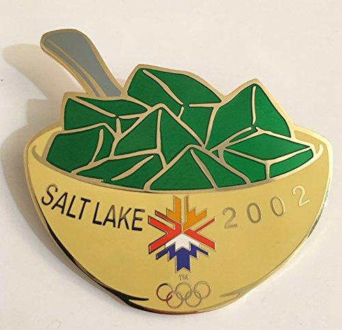 (Rare 2002 Salt Lake City Winter Olympics Original Large Green Jello Pin LE 994/1000)