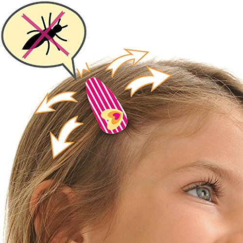 Mylee's ANTI LICE Hair Clips Patented - for the Best LICE TREATMENT! contain 4 CLIPS + a Bottle with Special Lice Shield Fluid. STOP THE HEAD LICE f