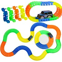 Zyka Online Services Magic Race Bend Flex and Glow Tracks - 165 Pieces