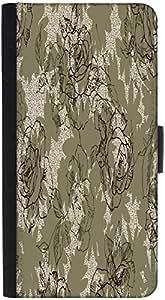 Caja de la carpeta del caso del tirón de la manga Snoogg folio de la cubierta de libro con ranuras de tarjetas de crédito , efectivo , de bolsillo del sostenedor del soporte , cierre magnético Negro para Samsung Galaxy S6