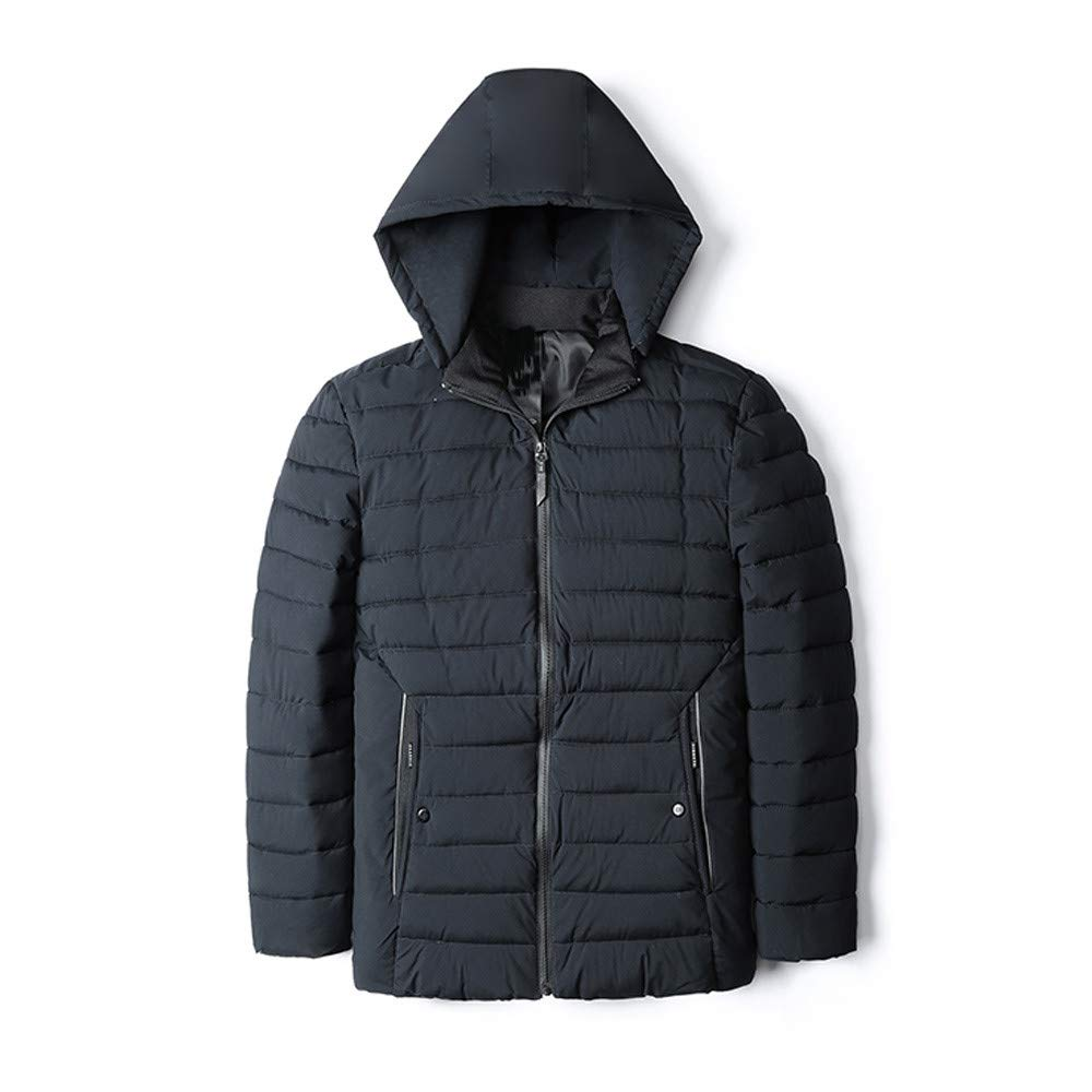 ALIKEEY Herren Jacke Herbst Winter warme beiläufige Tasche Zipper Hoodie Thermal