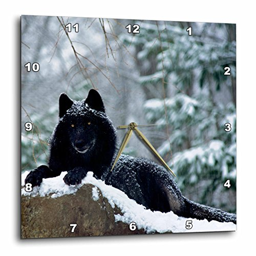 Rock Mountain Wolf 4-Wall Clock, wolf wall decorations