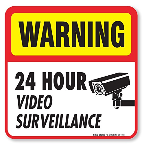 Video Surveillance Decal Adhesive Vinyl