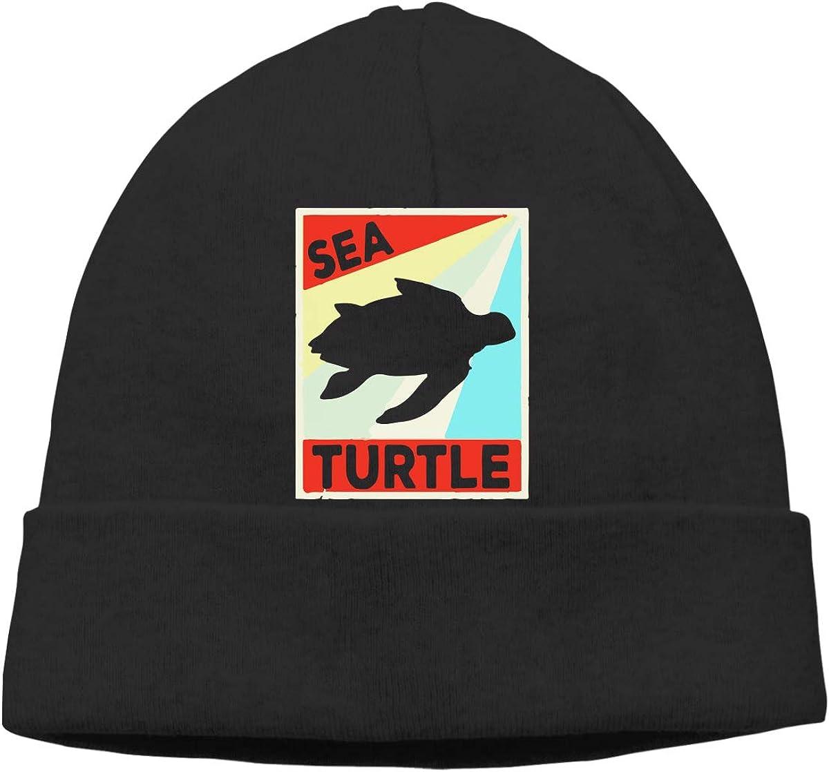 Sea Turtle Vintage Retro Men /& Women Thick Surf Beanie Skull Cap