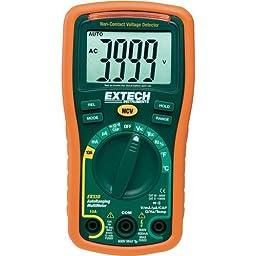 Extech EX330 Autoranging Mini Multimeter with NCV and Type K Temperature