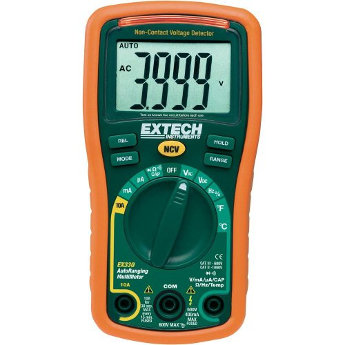 Extech EX330 Autoranging Mini Multimeter with NCV and Type K Temperature ()