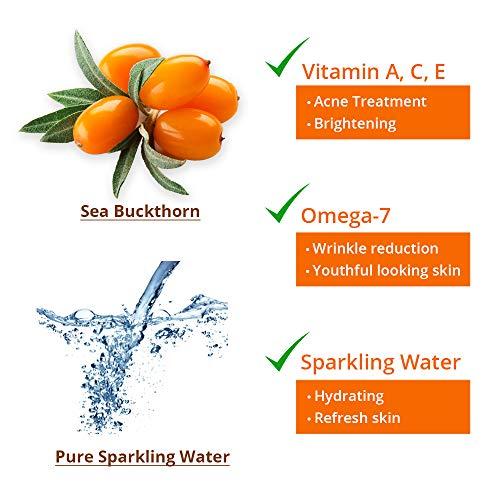 Sea Buckthorn Vitamin Facial Toner - Hydrating, brightening / 16.9 oz Big Family Size for all skin types