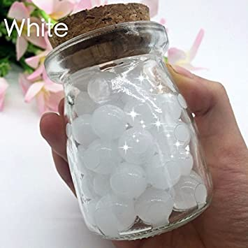OEEKOI White Gel Soil Water Crystal Beads for Kids Non Toxic,Vases Filler Wedding and Home Decoration,8000PCS 200G Plants
