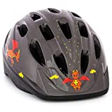 KIDS Bike Helmet – Adjustable from Toddler to Youth Size, Ages 3-7 – Durable Kid Bicycle Helmets with Fun Designs Boys and Girls will LOVE – CPSC Certified for Safety and Comfort – FunWave