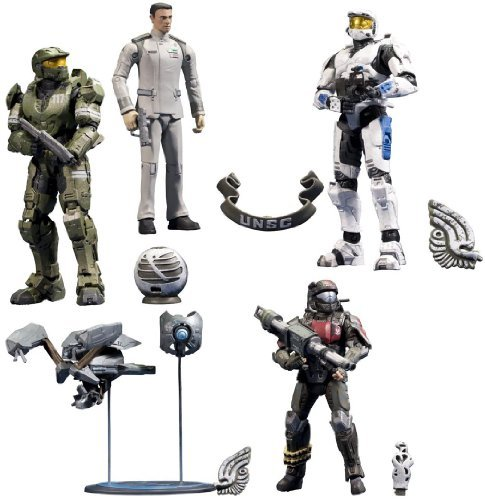 McFarlane Toys Action Figure - Halo 10th Anniversary Series 2 - ( SET OF 5 )