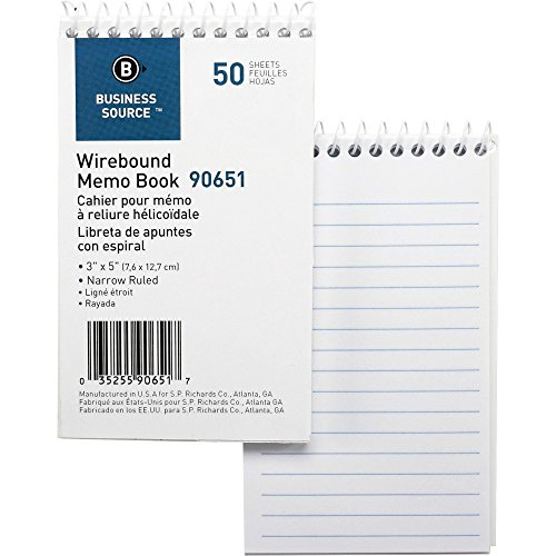 Business Source Wirebound Memo Books
