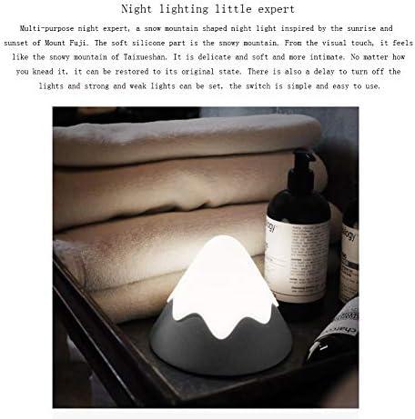 Dsti LED Nachtlicht für Baby Kinder Wiederaufladbare Silikon Kinder Lampe Schnee Gebirgslicht für Babyzimmer Schlafzimmer Wohnräume Camping,Grün