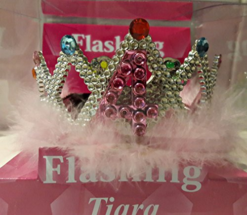 Sunstar Industries LED Blinking Flashing Princess Dress-Up Light Up Tiara Crown for Birthday Party (4 Years) - Light Up Dark Bride Child Costumes
