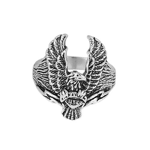 Solid .925 Sterling Oxidized Silver Eagle Ring #7.75 (Oxidized Eagle)