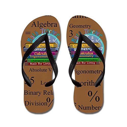 Cafepress Math Teacher 4.png - Tongs, Sandales Rigolotes, Sandales De Plage Noir