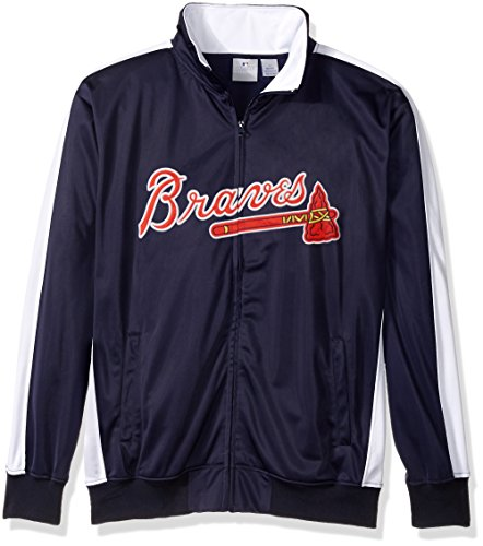 MLB Atlanta Braves Men's Big & Tall Track Jacket, 3X, - Track Atlanta Jacket Braves