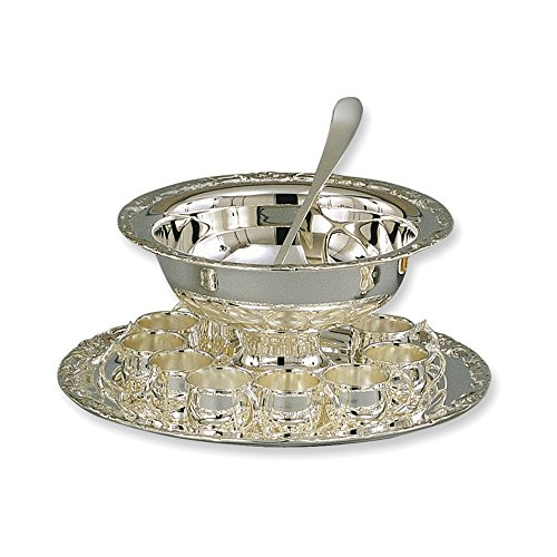 (Silver-plated 13-piece Punch Bowl Set)
