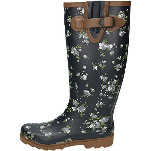 Blossom Boots Territory Wellington Northwest Navy Women's ExTRzqznU