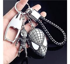 JLZK Avengers 4 Endgame superhéroe Llavero con Ironman Figura Thor Martillo Charm Llavero para Fans de Marvel (Ironman and Thor Hammer)