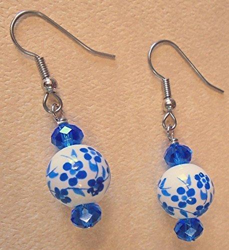 Flower Bead Earrings - 4