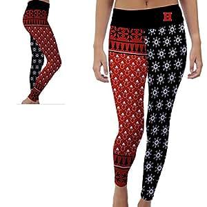 Hartford Hawks Womens Yoga Pants Christmas Party Design (Small)