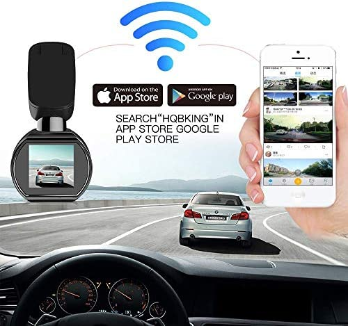 WiFi Dash Camera, SIV Vehicle Dash Cam Full HD 1080P Car Camera Recorder, Car Mini Dash Cam with 1.54 LCD 170 Degree Wide Angle, Sony Exmor Image Sensor, G-Sensor, WDR,Loop Recording Include TF Card