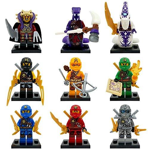 Toy store 0210 toys lot of 9 minifigures ninja blocks - Ninjago en arabe ...