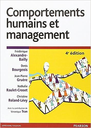 Livre gratuits Comportements humains et management 4e ed pdf epub