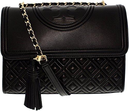 Tory Burch Fleming Convertible Shoulder Bag (Black)