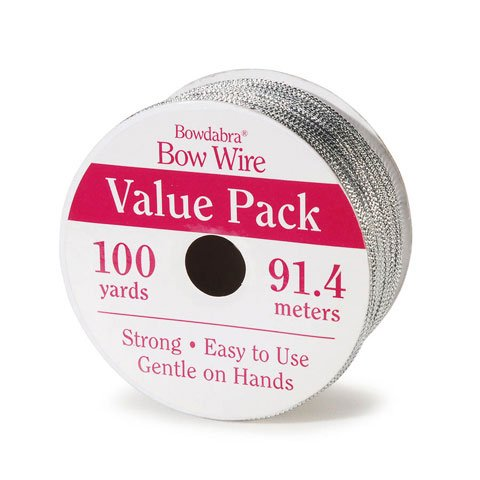 Bowdabra Bow Making & Crafts Wire - Silver 100 Yards Wire Strong Gentle on Hands – Crafting Wire for Gift Wrapping, DIY Crafts, Home Decor (BOW3060)