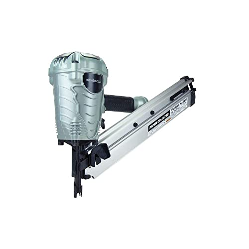 Metabo HPT NR90ADS1 Pneumatic Framing Nailer, 2 up to 3-1 2 Paper Collated Nails .113 – .148, Tool-less Depth Adjustment, 30 Degree Magazine, Selective Actuation Switch, 5-Year Warranty