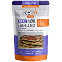 Blueberry Pancake & Waffle Mix: Low Carb & Keto Friendly Supports Keto Diet Collagen, Collagen Peptides, MCT and Whey…