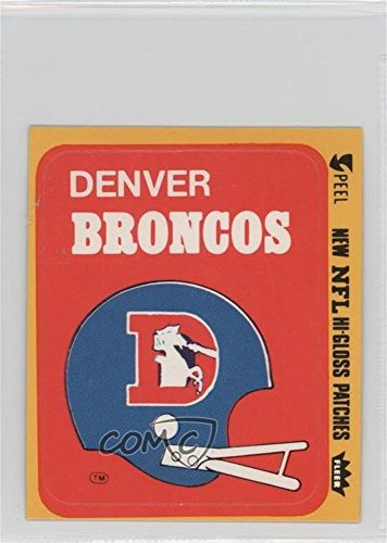 (Denver Broncos (Helmet) (Football Card) 1977 Fleer Teams in Action - Team Hi-Gloss Patches #DENH )