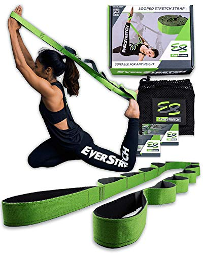 EverStretch Stretching Strap with Loops - Move Freely with This Looped Stretch Strap Premium Stretch Band for Sports, Physical Therapy and Recovery from Knee Replacement Surgery.