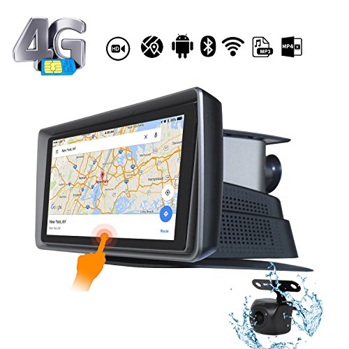 Skyfame Portable Navigation Dash CAM Android Navigation Car Navigation System Reversing Image With 4G Network WIFI Bluetooh Music Player Night Visiogation Waterproo DVR Android Trackn Dual CAM