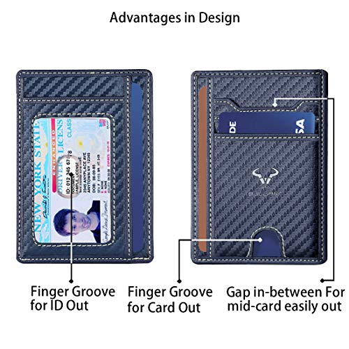 "Slim Wallet,BULLIANT Skinny Minimal Thin Front Pocket Wallet Card Holder For Men 7Cards 3.15""x4.5"",Gift-Boxed"