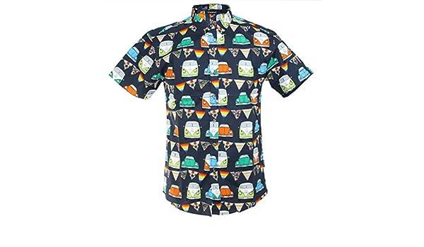 TRANKILO Camisa Negra con Estampado de Coches volkwagen (S): Amazon.es: Ropa y accesorios