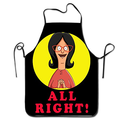 Apron Chef Kitchen Cooking Apron Bib Bob's Burgers Linda All (Bob And Linda Halloween)