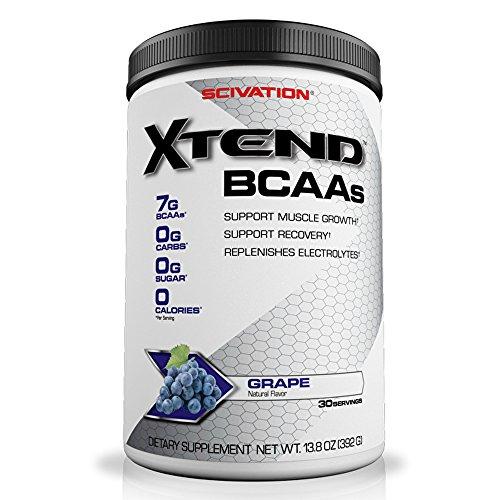 Best Powder Glutamine (Scivation Xtend BCAA Powder, Branched Chain Amino Acids, BCAAs, Grape, 30 Servings)