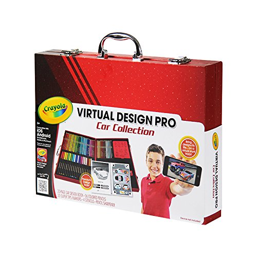 amazon com crayola virtual design pro cars set toys games
