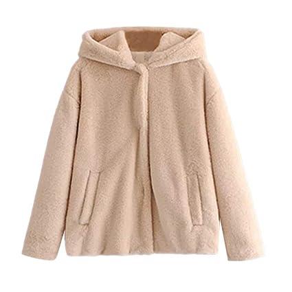 FuweiEncore Abrigo de Invierno Escudo de Las señoras, Moda de Invierno de Las Mujeres Casual