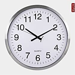 SNEED-European clocks large wall clock creative fashion living room mute clock modern hotel idyllic pocket watch , brushed aluminum