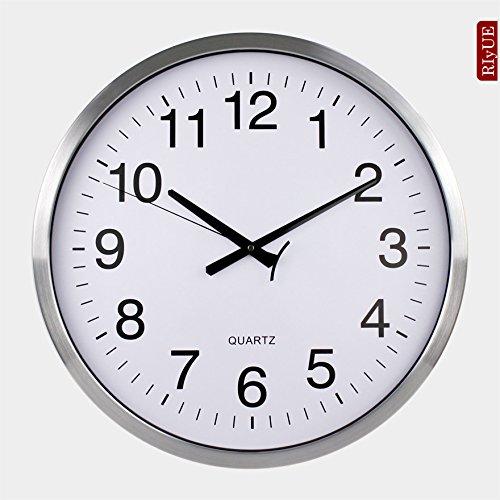 SNEED-European clocks large wall clock creative fashion living room mute clock modern hotel idyllic pocket watch , brushed aluminum