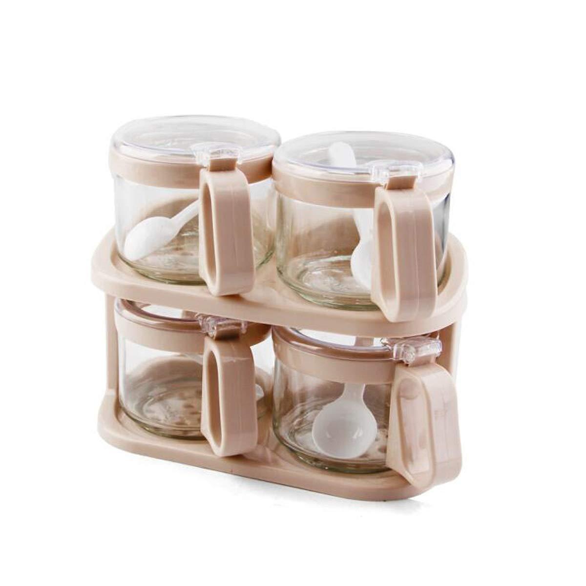 MINGRUIGONGMAO 4 Groups Of Seasoning Jar Seasoning Box Oil Pot Soy Sauce Vinegar Tank Plush toys (Color : Pink) by MINGRUIGONGMAO