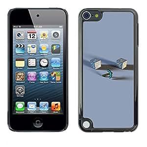 KLONGSHOP // Cubierta de piel con cierre a presión Shell trasero duro de goma Protección Caso - M1necraft - Apple iPod Touch 5 //