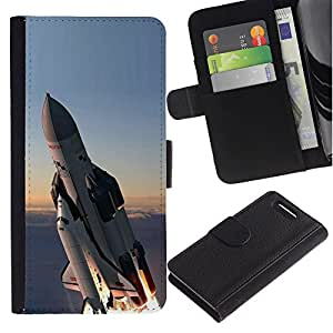 Ihec-Tech / Flip PU Cuero Cover Case para Sony Xperia Z1 Compact D5503 - Space shuttle