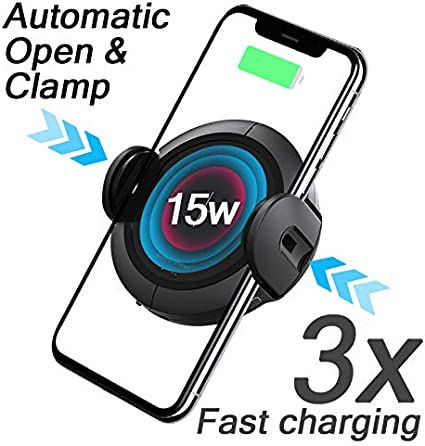 for iPhone X 8/8 Plus Samsung Galaxy S8/S9 Qi Fast Charging Car ...