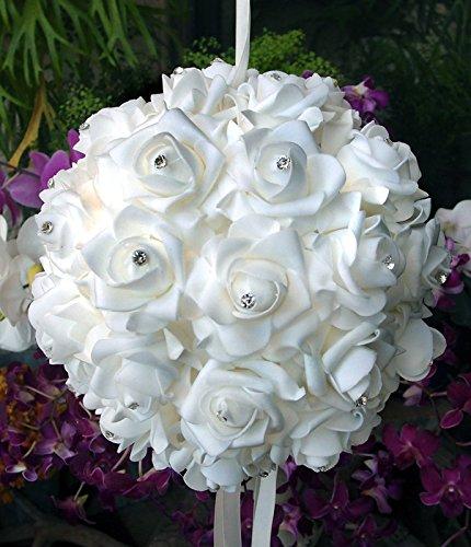 PaperLanternStore com White Foam Kissing Rhinestones
