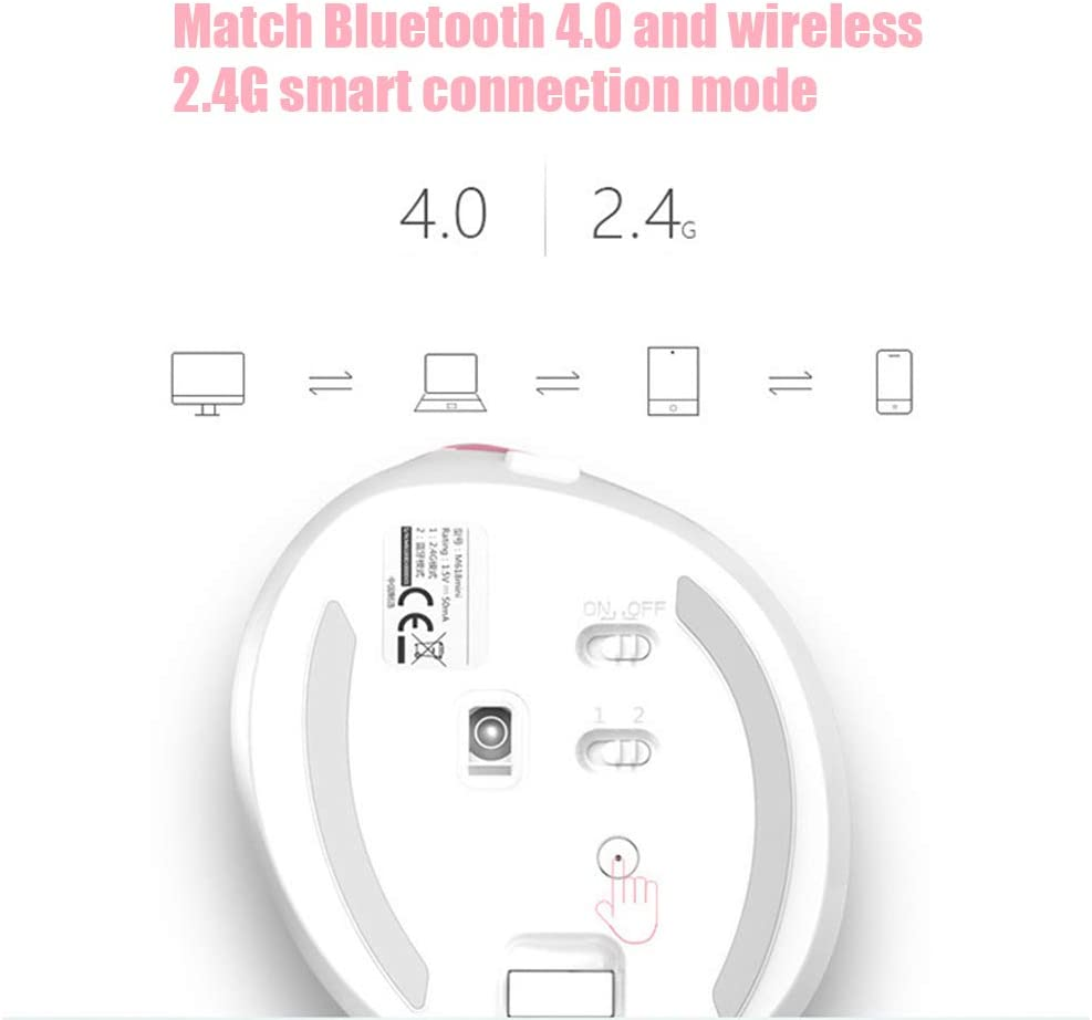 GWX Mini verticale muis, USB wireless 4.0 Bluetooth dual modus draadloze muis ergonomie opladen, ingebouwde 1000 mAh lithiumbatterij Zwart