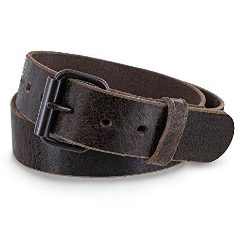 Hanks Rustic - Mens Jean Belt -No Break Thick Leather Belt - USA Made - 100 Year Warranty